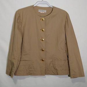 YSL Rive gauche tan vintage jacket. Size 12.